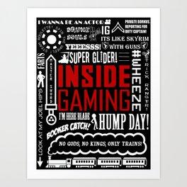 Inside Gaming Moments Art Print