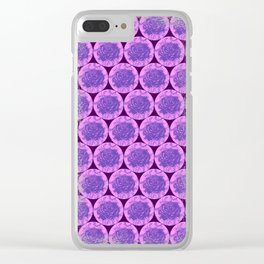 Roses Motif - illustration by Maxime Potvin Clear iPhone Case