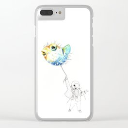 Pufferfish - Puffed up Clear iPhone Case