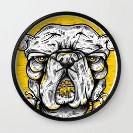 Bulldogs mood Wall Clock