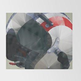 Tag Heuer Steve McQueen Cafe Racer Helmet Polygon Art Throw Blanket