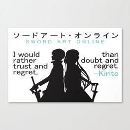 Sword Art Online Poster Canvas Print