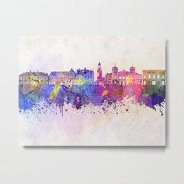 Aalborg skyline in watercolor background Metal Print