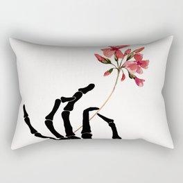Skeleton Hand with Flower Rectangular Pillow