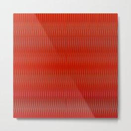 Red stripes Metal Print
