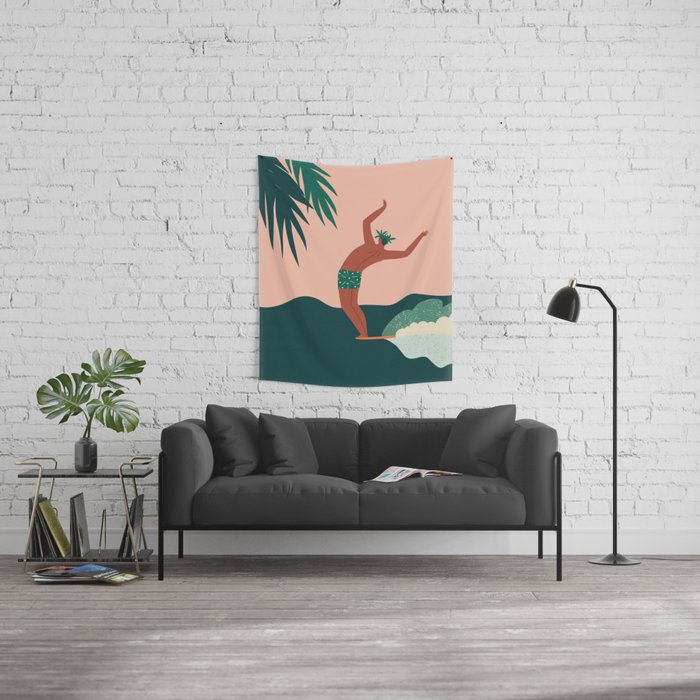 Go with a flow Wall Tapestry
