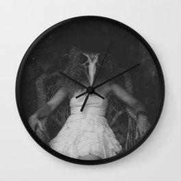 Dead Bird in a Mitten Wall Clock
