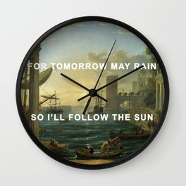 Seaport with the Embarkation of the Sun Wall Clock
