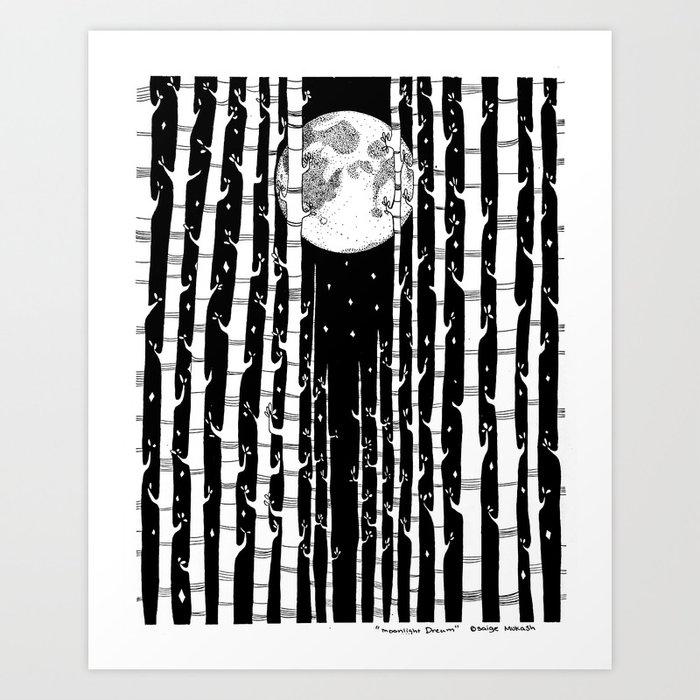 MoonLight Dream Art Print