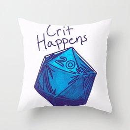 Crit Happens D20  Throw Pillow