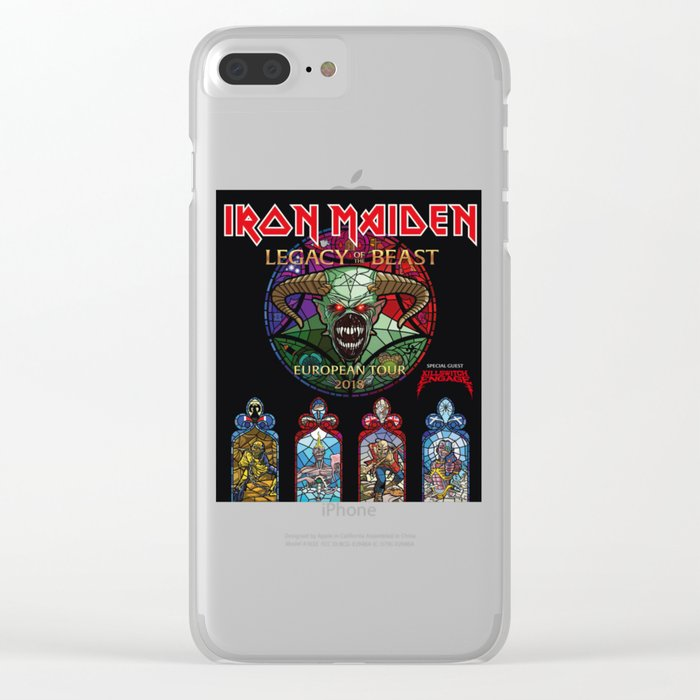 IRON MAIDEN TOUR 2018 Clear iPhone Case