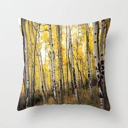 Aspen Trees of Colorado Throw Pillow