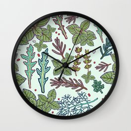 herbs pattern Wall Clock