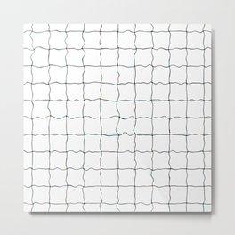 Swimming Pool Grid - Underwater Grid Metal Print