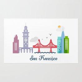 what a colorful city San Francisco, CA. v2. Rug