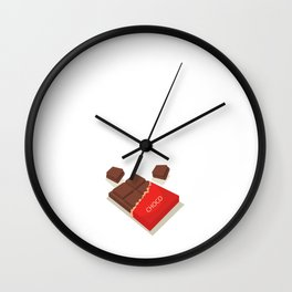 I Could Give Up Chocolate But I'm Not a Quitter T-Shirt Wall Clock