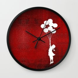 Banksy the balloons Girls silhouette Wall Clock