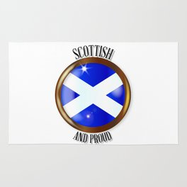 Scottish Proud Flag Button Rug