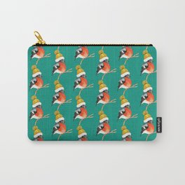 Christmas Bird Bullfinch Carry-All Pouch