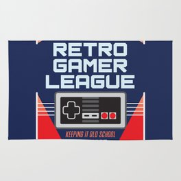Geeky Gamer Chic Classic Vintage Gaming NES Inspired Vintage Gamer League Old School Cool Rug