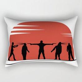 Zombie Controol (Moon headshot) Rectangular Pillow