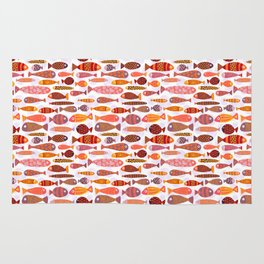 School of tropical fish pattern Rug