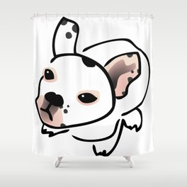 French Bulldog Pup Drawing Shower Curtain