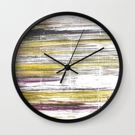 Baby powder abstract watercolor Wall Clock