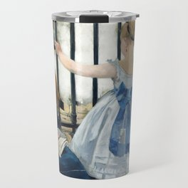 Edouard Manet - Le Chemin de fer (The Railroad) Travel Mug
