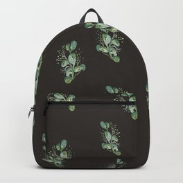 Eucalyptus Sprig on Black Backpack