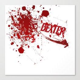 Dexter blood spatter Canvas Print