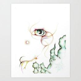 Nebula Eye Artwork Art Print