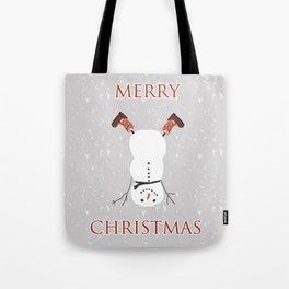 Snowman Yoga - Handstand Tote Bag