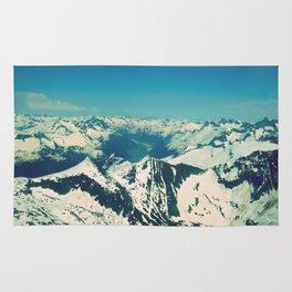 Mountain Peaks   Photography Rug