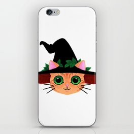 Witch hat cat iPhone Skin