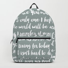 Imagine Song Backpack