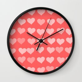 Cute Hearts Wall Clock