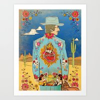 bob dylan Art Prints featuring Bob Dylan by Susan Burghart
