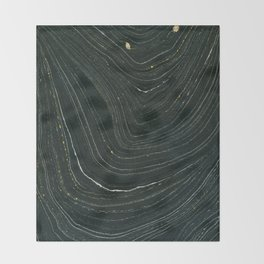 Black and Gold Throw Blanket