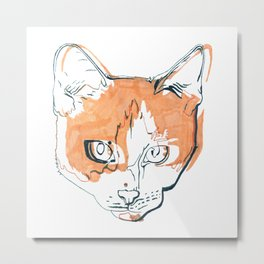 Kitten with a Soul Patch Metal Print