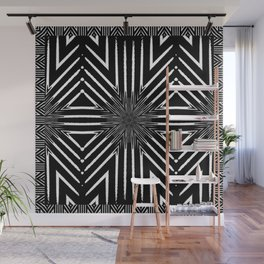 Tribal Black and White African-Inspired Pattern Wall Mural