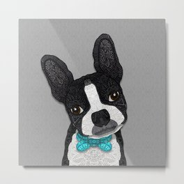 Bow Tie Boston Metal Print