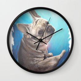 Bruce in Blue Wall Clock