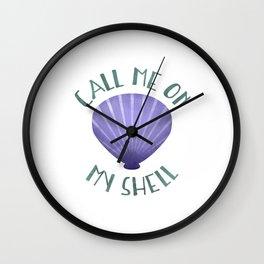 Call Me On My Shell Wall Clock