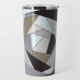 Rotating Geometric Layers Travel Mug