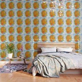 Orange Peonies Wallpaper