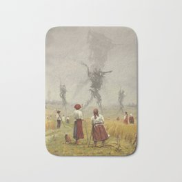 1920 -The march of the Iron Scarecrows Bath Mat