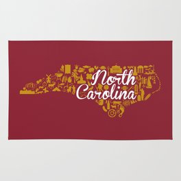 Elon University North Carolina State - Maroon and Gold University Design Rug