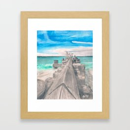 Naples Pier Framed Art Print
