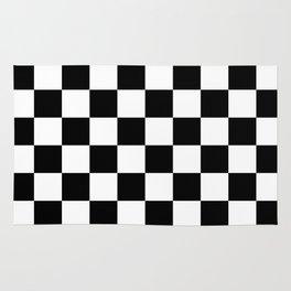 Black & White Checkered Pattern Rug